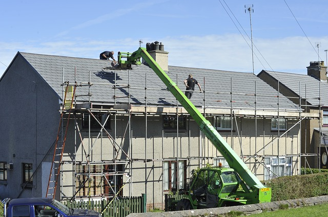 Scaffold Roof Repair