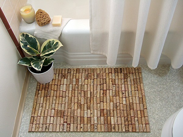 Cork Bathmat photo by Amelia Sommer. License: CC BY 2.0.